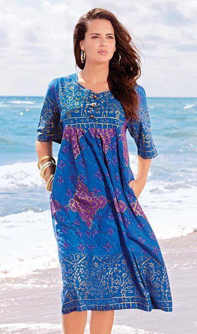 Sapphire Floral Patio Dress