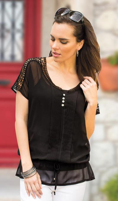 Sheer Elegance Blouse