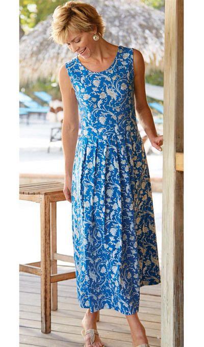 Parisian Scroll Sleeveless Dress
