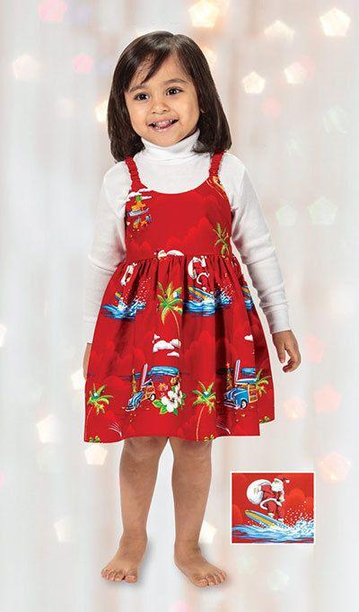 Surfing Santa Toddler Dress