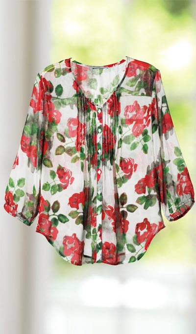 Sheer Rose Garden Blouse