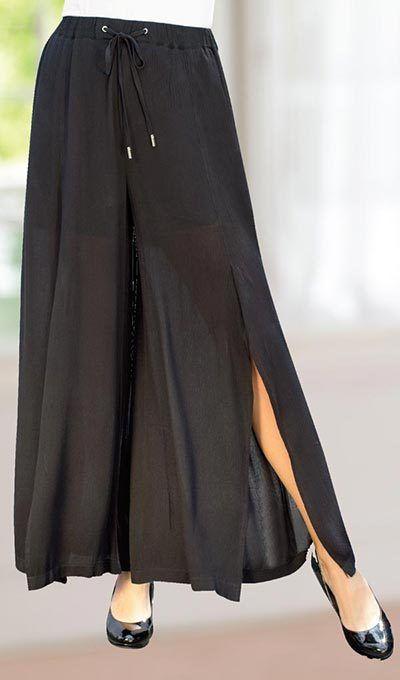 Front Slit Dress Pants