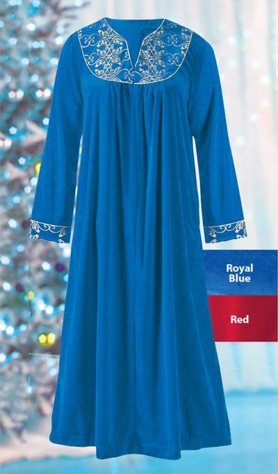 Elegant Embroidered Robe