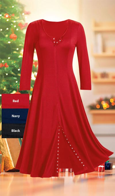 Snappy Swing Dress
