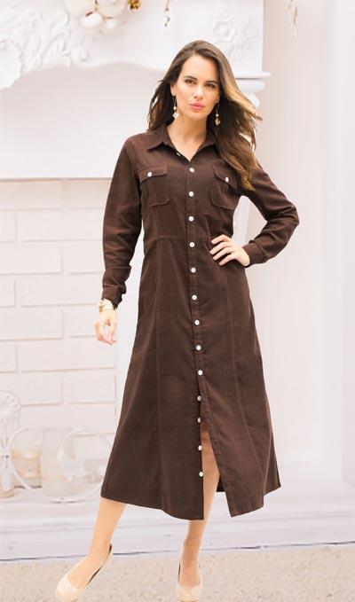 Classic Corduroy Dress