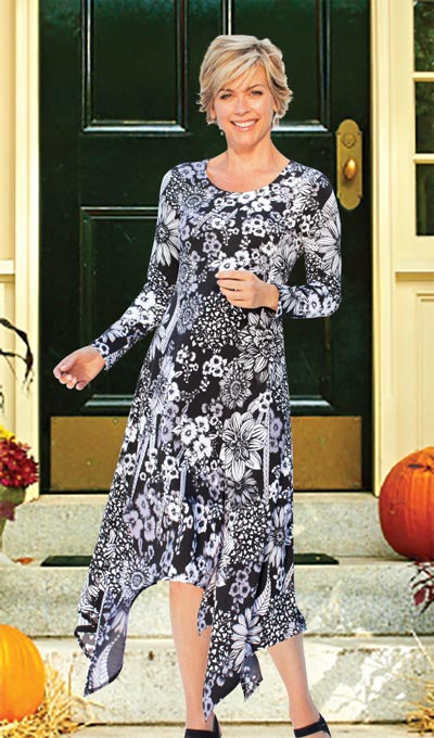 Captivating Contrast Dress