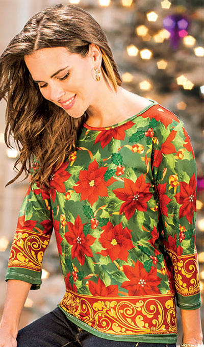 Poinsettia Top