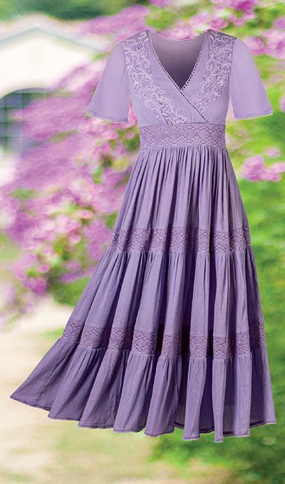 Embroidered Tiered Maxi Dress