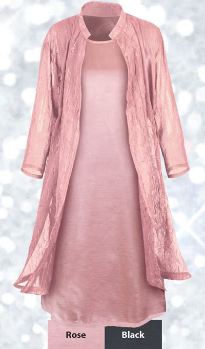 Pleated Glamour Duster Jacket
