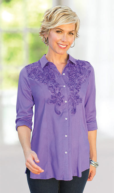 Soft Soutache Embroidered Shirt