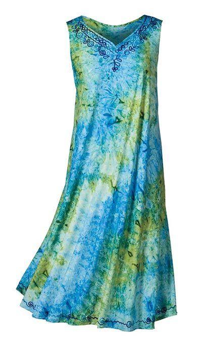 Tie-Dyed Umbrella Dress