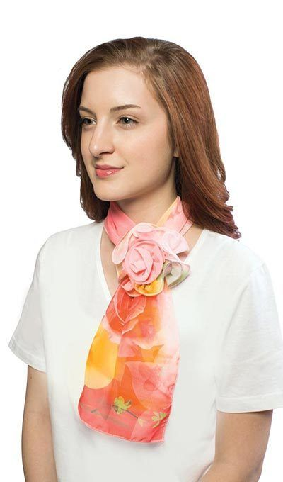 Pastel Watercolor Rosette Scarf