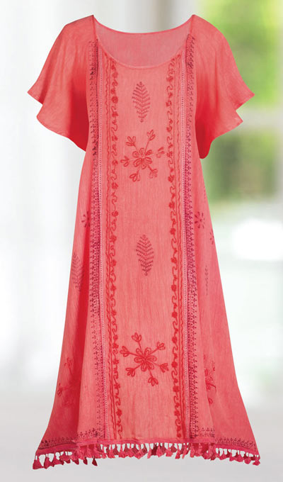 Tassel Embroidered Dress
