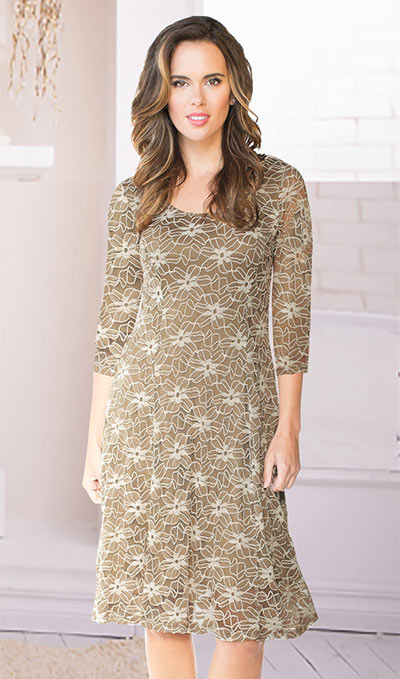 Lavish Latté Lace Dress