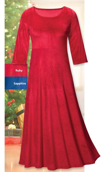 Luxurious Stretch Velvet Maxi Dress