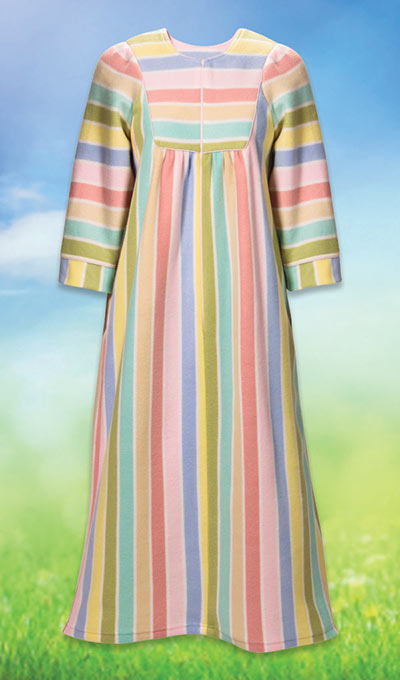 Striped Fleece Robe