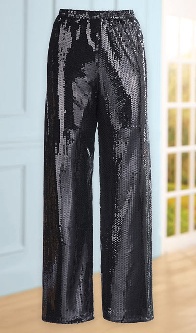 Out-on-the-Town Sequined Pants
