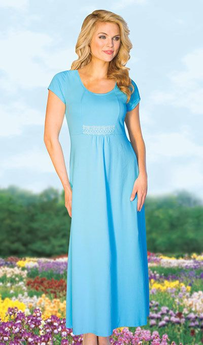 Full & Flowy Comfort Dress  - Aqua