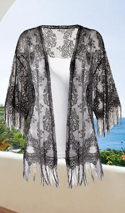 Romantic Black Lace Cardigan