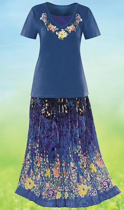 Garden Party Skirt & Tee Set