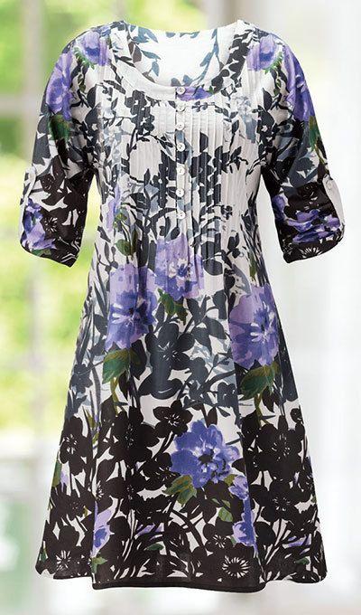 Delightful Delphinium Blooms Dress