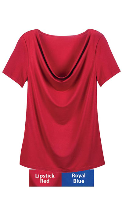 Cowl Draping Tunic