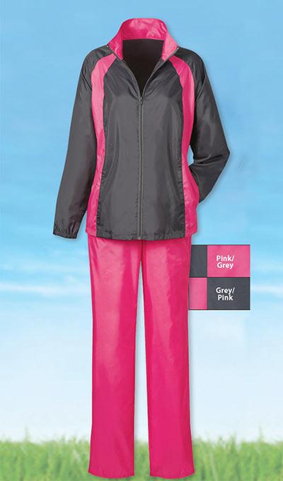 Pink Jacket/Grey Pant Slimming & Sporty Jog Set