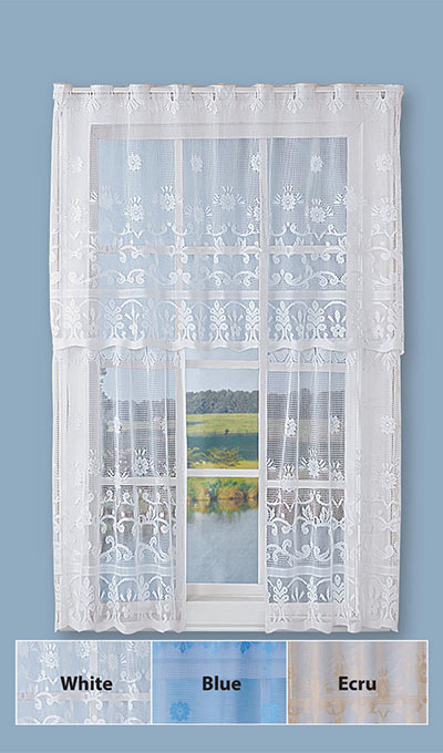 Floral Café Curtain Set