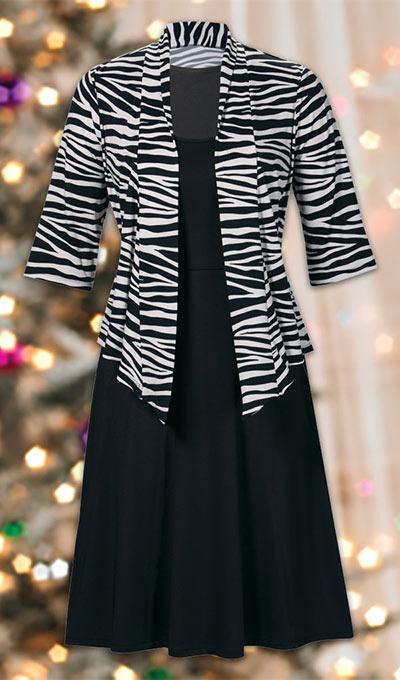 Zebra Print Dress Set