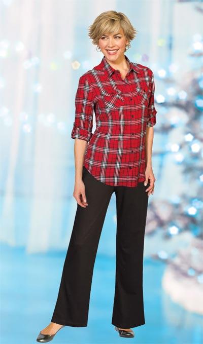 Red Plaid Flannel Shirt
