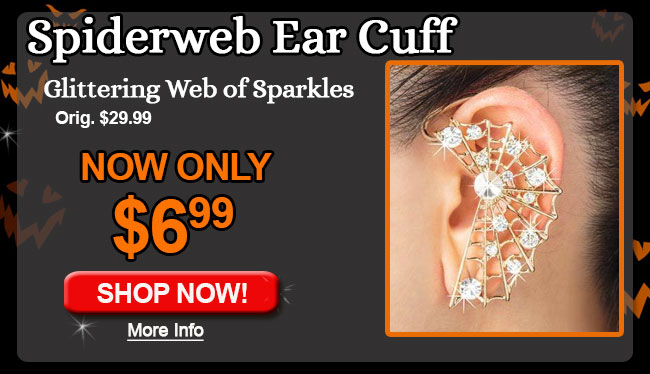 Spiderweb Ear Cuff