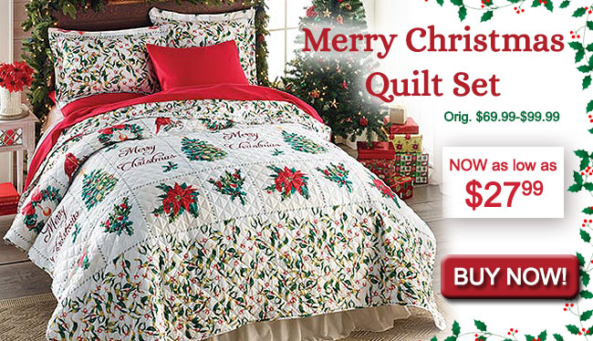 Merry Christmas Quilt Set