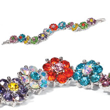 Multicolor Flower Bracelet