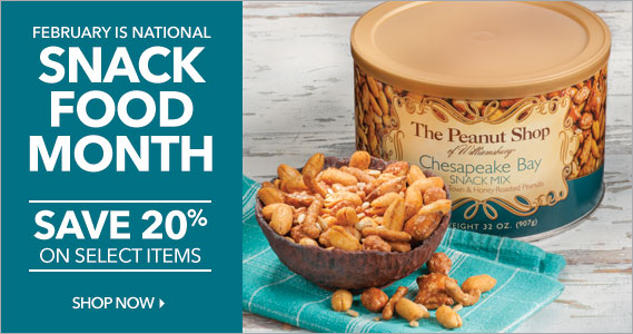 National Snack Month Sale - The Peanut Shop of Williamsburg