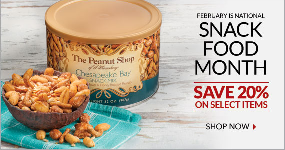 Snack Month Sale - The Peanut Shop of Williamsburg