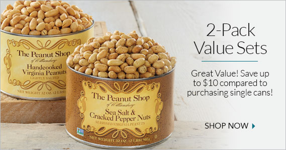 Two Pack Gift Sets - The Peanut Shop of Williamsburg