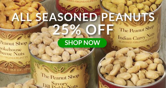 Seasoned Peanuts Sale - The Peanut Shop of Williamsburg