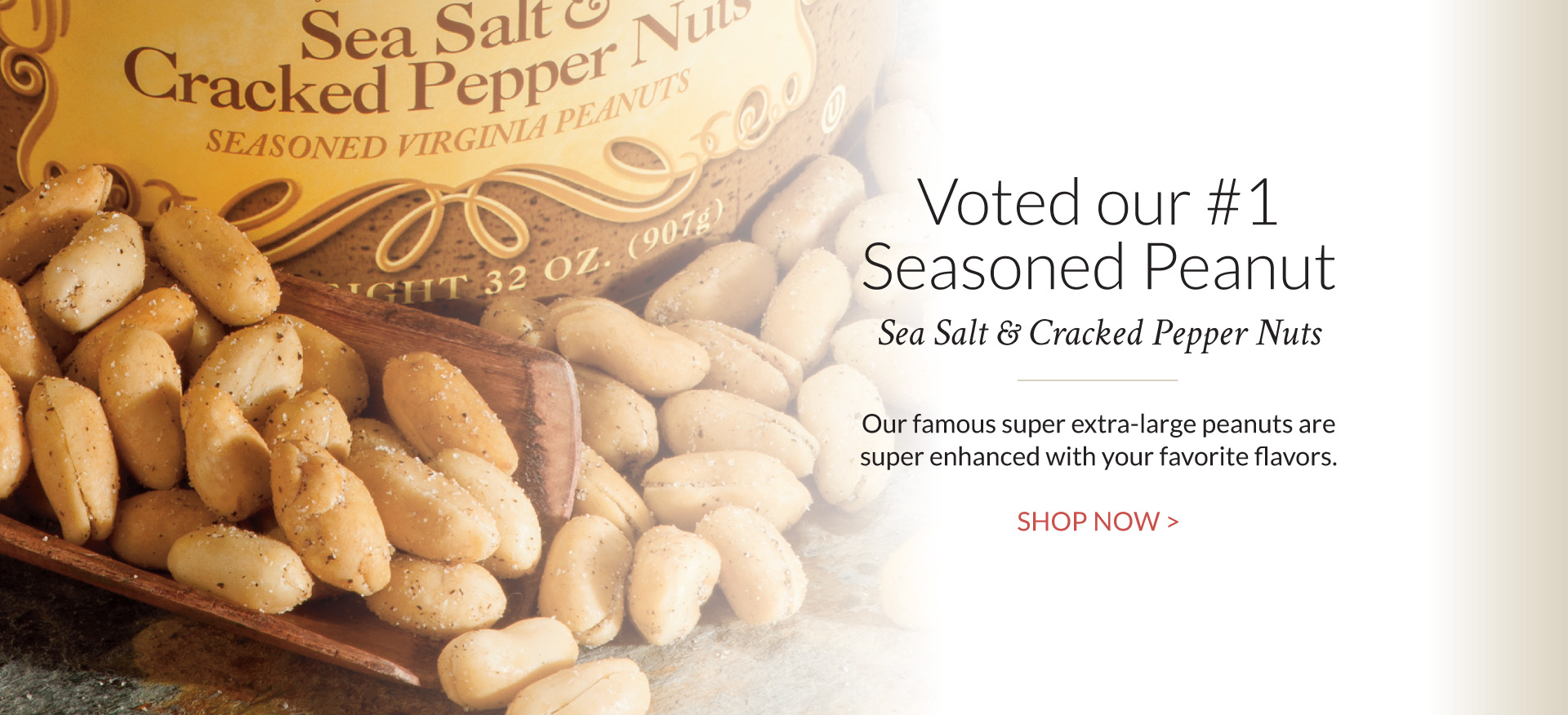 Salt and Pepper Peanuts - The Peanut Shop of Williamsburg