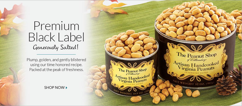 Artisan Generously Salted Peanuts - The Peanut Shop of Williamsburg