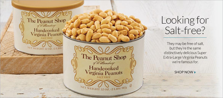 Salt Free Peanuts - The Peanut Shop of Williamsburg