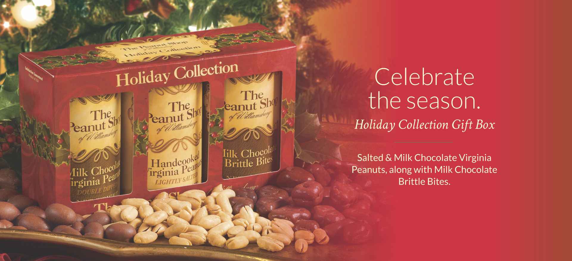 Holiday Gift Box - The Peanut Shop of Williamsburg
