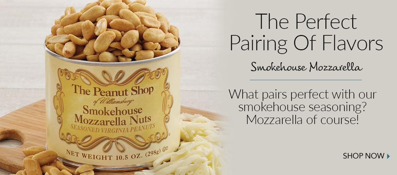 Smokehouse Mozzarella Peanuts  - The Peanut Shop of Williamsburg