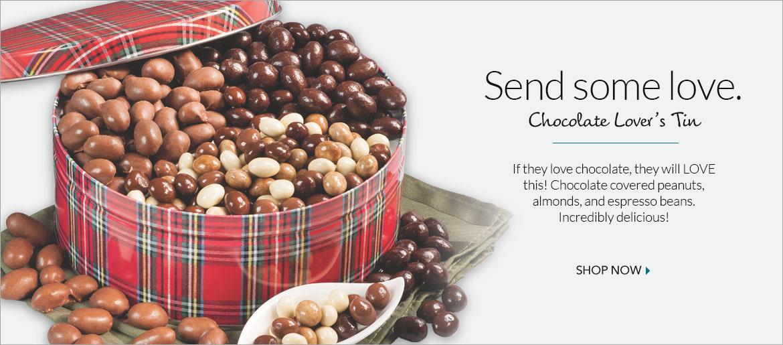 Chocolate Lover's Tin - The Peanut Shop of Williamsburg