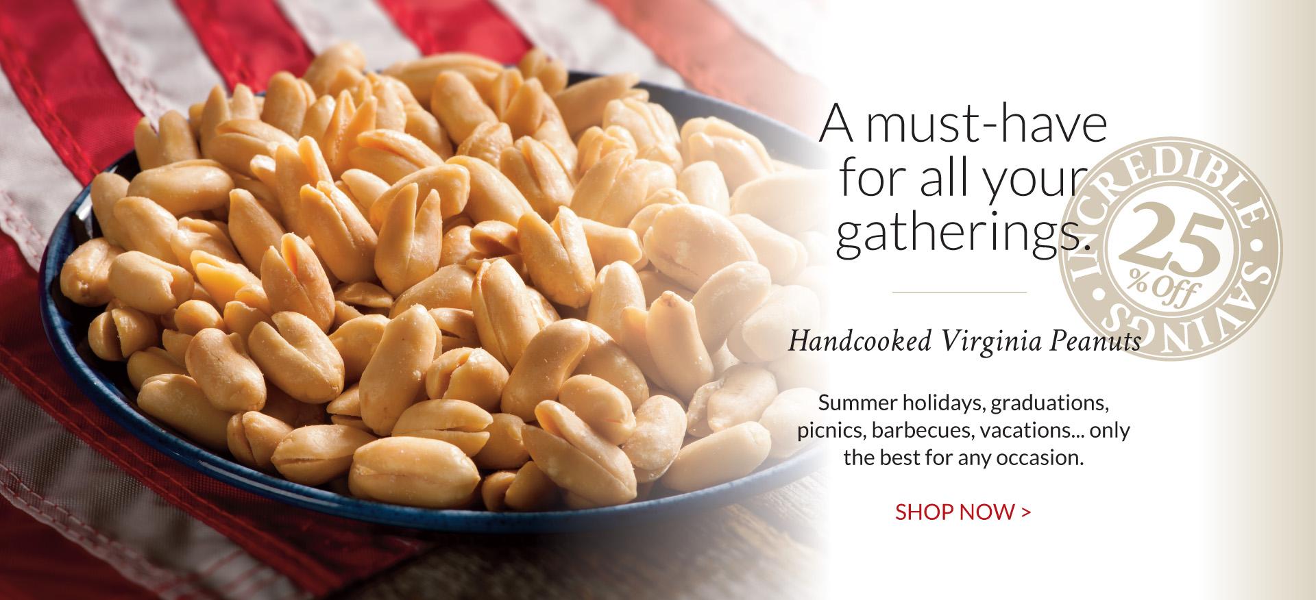 Handcooked Virginia Peanuts - The Peanut Shop of Williamsburg