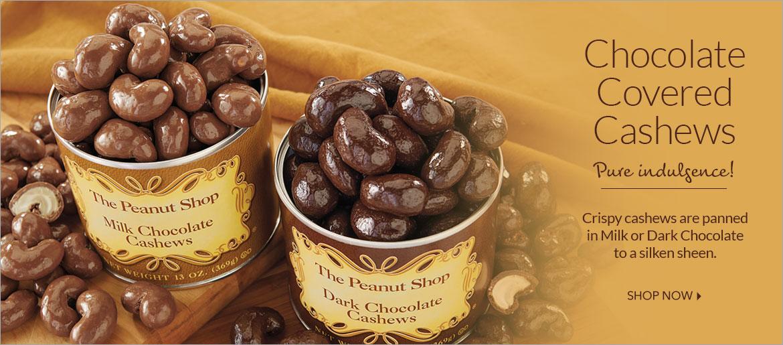 Chocolate Covered Cashews - The Peanut Shop of Williamsburg