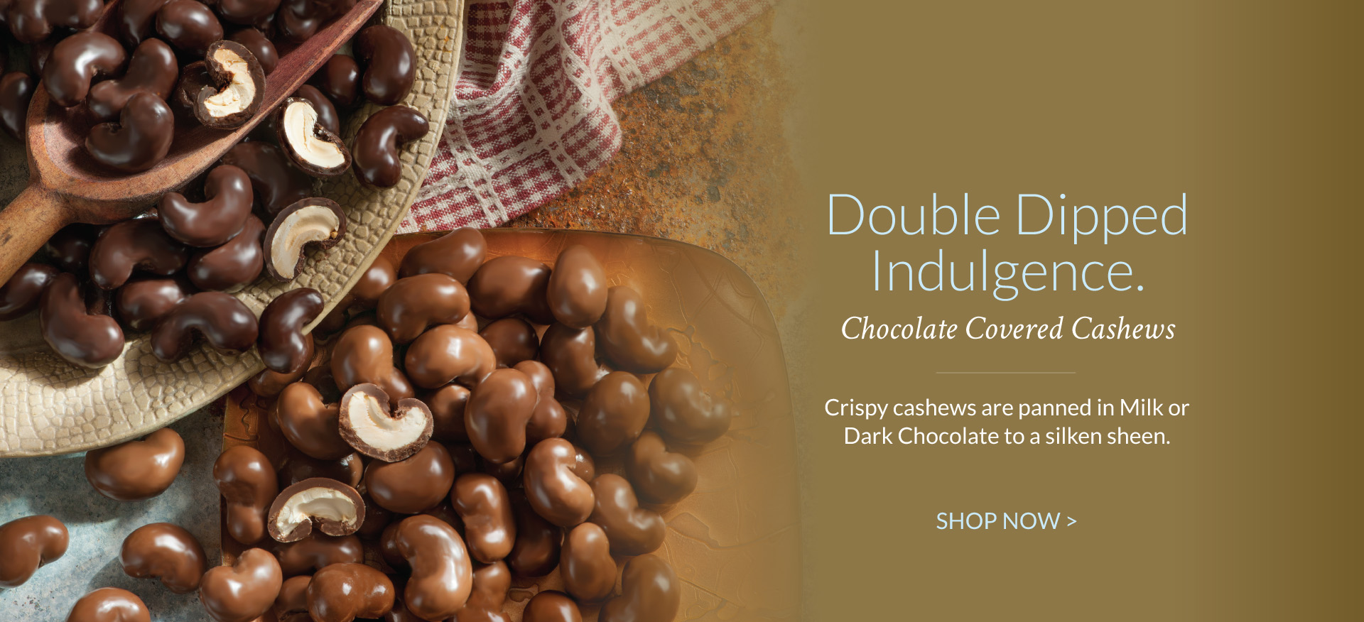 Chocolate Covered Cashews - The Peanut Shop of Williamsburg