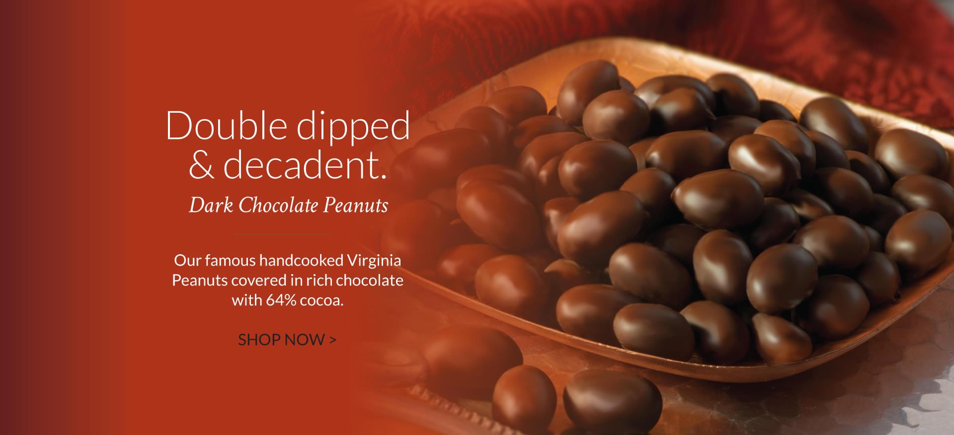 Dark Chocolate Virginia Peanuts