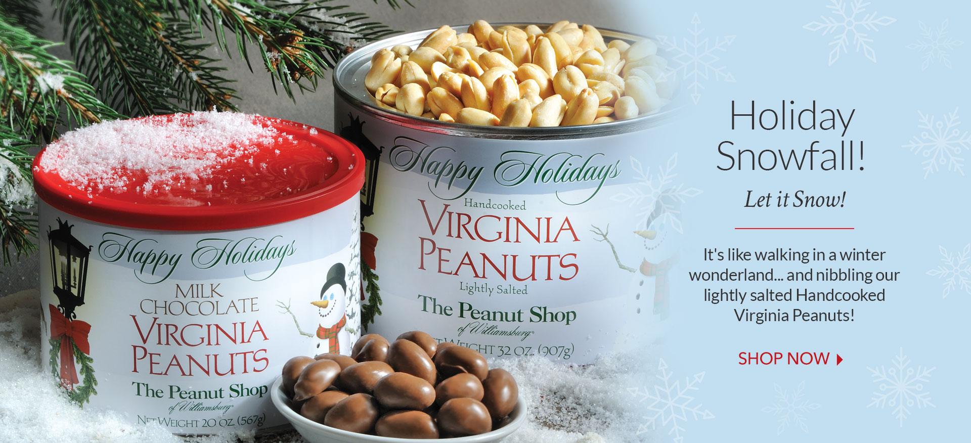 Snowfall Dark Chocolate Peanuts - The Peanut Shop of Williamsburg