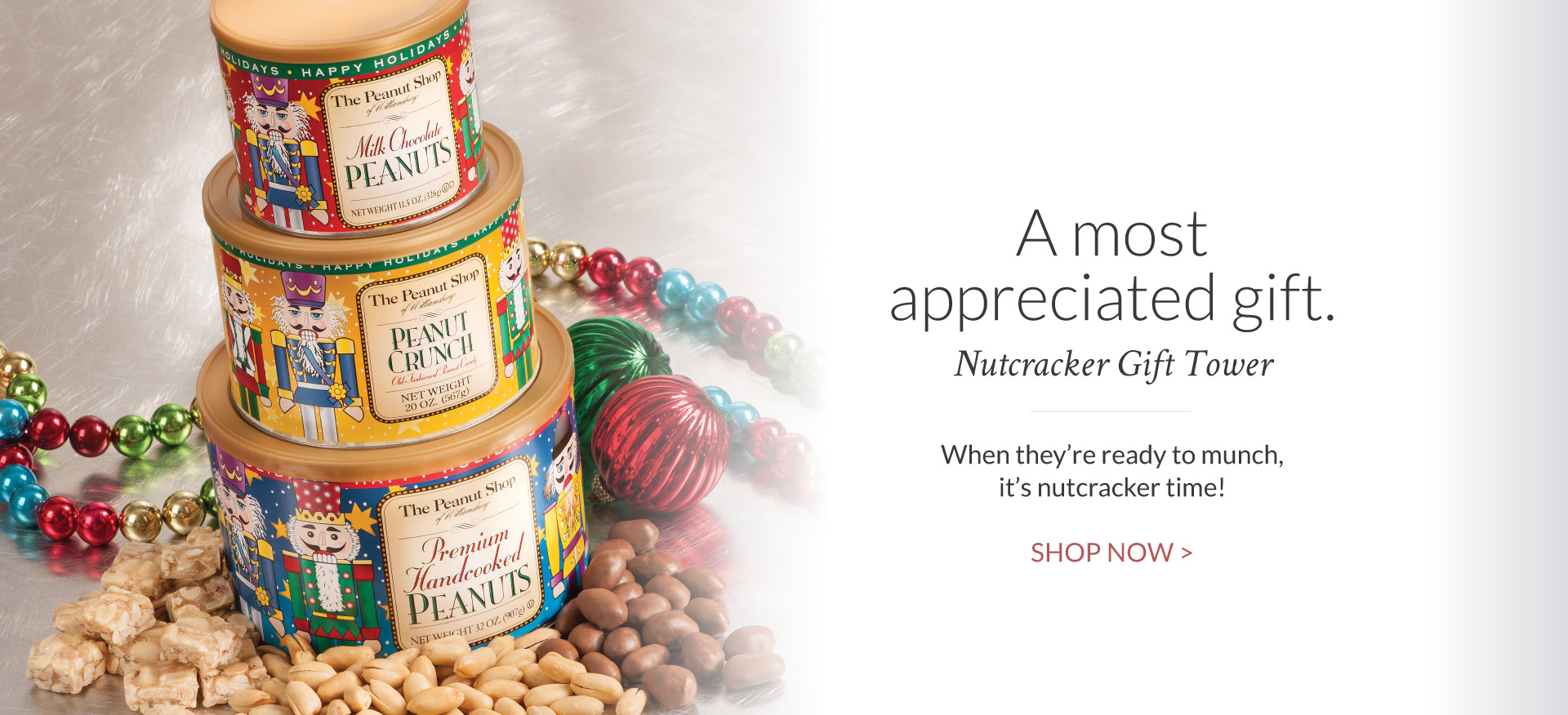 Nutcracker Peanut Tower - The Peanut Shop of Williamsburg