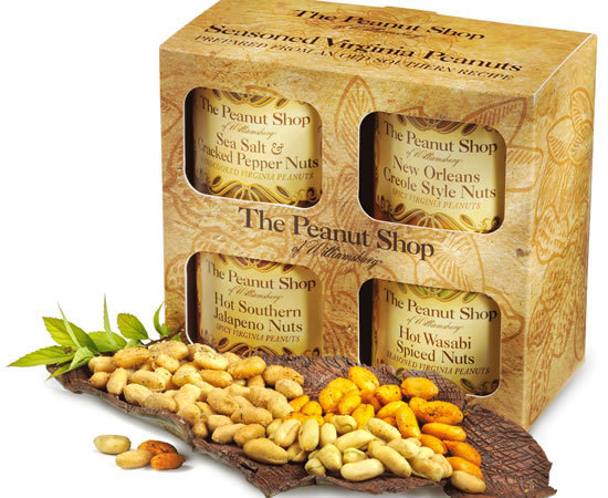 Seasoned Virginia Peanuts 4-Pack Gift Box